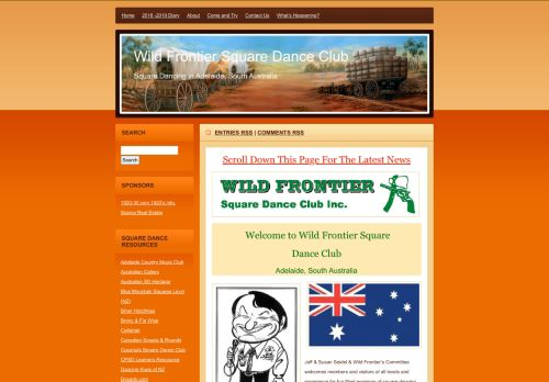 "Web site for ""Wild Frontier Square Dance Club Inc."""