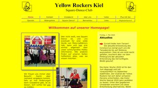 "Web site for ""Yellow Rockers Kiel"""