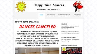 "Web site for ""Happy Time Squares"""