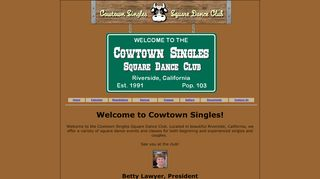 "Web site for ""Cowtown Singles"""