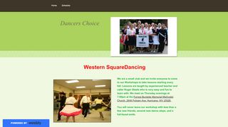 "Web site for ""Dancers Choice Square Dance Club"""