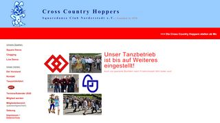 "Web site for ""Cross Country Hoppers"""